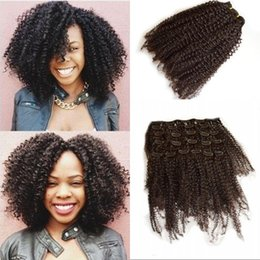 Discount 22 inch remy clip hair extensions 2018 22 inch remy 7 pieces set full head afro kinky curly clip in human hair extensions 8 24 inch brazilian remy hair clip ins fdshine pmusecretfo Image collections