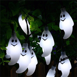 online shopping ghost led string light halloween decorations led solar powered steady flickering light outdoor lights - Solar Halloween Decorations