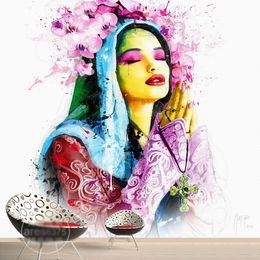 $enCountryForm.capitalKeyWord UK - Hand-painted Wall mural European beauty Wallpaper Custom 3D Wallpaper for wall Bedroom LivingRoom Hotel Beauty Salon Art painting Room decor