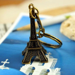 hou 500 pcs lot Fashion Classic French France Souvenir Paris 3D Eiffel Tower Keychain Keyring Key Chain Ring free shipping on Sale