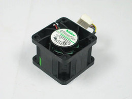 aluminum connectors UK - Nidec V40S12BS4A5-57T09 DC 12V 0.73A 4-wire 4-pin connector 50mm 40x40x28mm Server Square cooling Fan