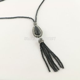 Chinese  4Pcs Crystal Rhinestone Paved Snakeskin Bead With Black Color Crystal Tassels Chains Charms Necklaces Pendants Jewelry Finding manufacturers