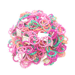 hair rubbers bands UK - 200pcs lot Size 3CM Child Baby Kids Ponytail Holders Colorful Hair Accessories For Girl Headwear Rubber Hair Band Tie Gum