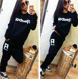 Barato Senhoras Lazer Desporto Terno-New 2017 Leisure sports Moda Mulheres Casual Sportswear Suit Autumn Tracksuit Lace Ladies Women's Sets High Quality Clothing