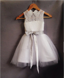 $enCountryForm.capitalKeyWord Canada - Arrival Flower Girl Dresses Party Communion Pageant Dress for Little Girls White Ivory Kids Children Dress for Wedding