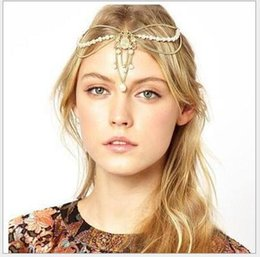 $enCountryForm.capitalKeyWord NZ - 36PCS Beautiful Pearl hair accessories Wedding Bridal Hair Accessories Beaded Pearls Head Chain Indian Women Hair Jewelry F304