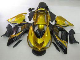 $enCountryForm.capitalKeyWord Canada - Injection molded 100% fit for Kawasaki Ninja ZX14R 06 07 08-11 gold black fairings set ZX14R 2006-2011 OT16