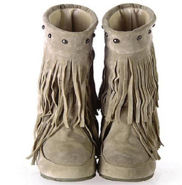 Discount Red Fringe Boots Women | 2017 Red Fringe Boots Women on ...