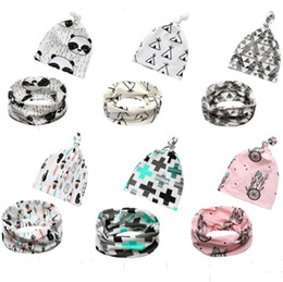 $enCountryForm.capitalKeyWord Canada - Fall Ins Baby hat + scarf set Neck Wraps Ring Scarves Kids Accessories Cotton Children Neckerchief Fashion Shark fox Boys Girls 0-2years