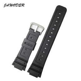 Discount dw watch bands JAWODER Watchband 26mm Black Silicone Rubber Watch Band Strap for DW-5600E DW-5700 G-5600 G-5700 GM-5610 Sports Watch St