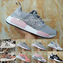 Barato Sapatos Azuis Atacado-2017 Cheap New Wholesale Discount New NMDS R1 W