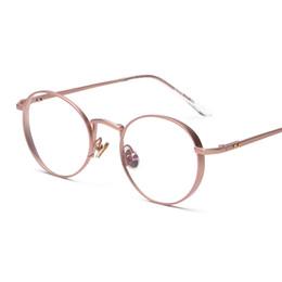 spectacles gold frame 2019 - Wholesale- Contain Rose Gold!Retro Round Eyewear Frame Men Women Optical Eyeglasses Computer Glasses Spectacle Frame Ocu