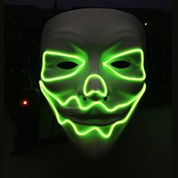$enCountryForm.capitalKeyWord Canada - 2017 New Year Flash El Wire Led Glowing Beauty Christmas Party Mask Full Face Party Mask Dance Ball Mask Hot Sale