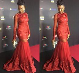 da0f42b84dd Black Backless turtleneck dress online shopping - Red Star Cylinder Long  Sleeved Muslim Prom Dress Turtleneck
