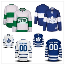 titched Custom Toronto Maple Leafs mens womens youth White Green Home Royal Blue  2017 Centennial Winter Classic Third Hockey Jerseys S-4XL discount maple ... 6f6d1f315