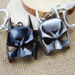 Discount batman metal keychain - 3 Colors Anime Superhero Batman Mask Key Chain Metal Pendant Keychain Cartoon Movie Jewelry 10 pcs lot Free Shipping
