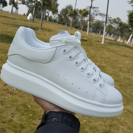 Custom Made Men Shoes Canada - LTTL Top quality Custom made 100% Real leather platform casual shoes Comfortable High Top white flats Sneakers for man