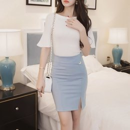 Barato Saias De Escritório De Outono-Autumn 5XL Plus Size Slim Office Skirt Mulheres Sexy Elastic High Waist Pencil Skirt Step Office Formal Skirt Saias Saias CL302