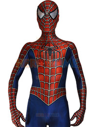 Costume Pour Homme Et Femme Pour Homme Zentai Pas Cher-Livraison gratuite Raimi Spiderman Costume 3D Printed Kids / Adult Lycra Spandex Spider-man Costume pour Halloween Fullbody Zentai Suit
