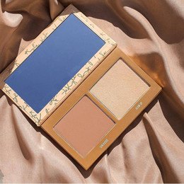 Barato Duo Impermeável-Hot Sale 2 cores Kylie Jenners Skinny Dip Face Duo Sombra de olhos Kylie férias Highlighter Waterproof Eyeshadow Makeup DHL Frete grátis
