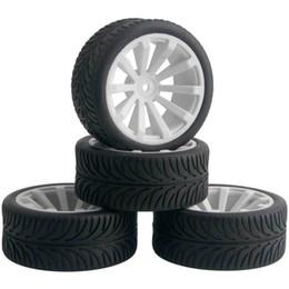 $enCountryForm.capitalKeyWord NZ - 4pcs RC Flat Racing Tires Tyre Wheel Rim Fit HSP HPI 1:10 On-Road Car 602-8007
