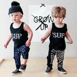 Ensembles De Vestes Pour Costumes Pour Garçons Pas Cher-Ins Boys Clothing Set Summer Letters Vest + Pants 2pcs Ensembles pour enfants Children Boy Outfits Costumes pour vêtements 13213