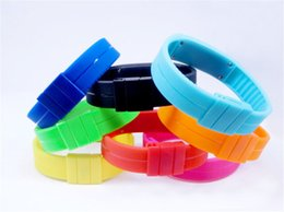 $enCountryForm.capitalKeyWord Canada - 2017 Fashion mens boys touch screen led watch Sports rectangle students silicone rubber bracelets digital watches wholesale cheap watch