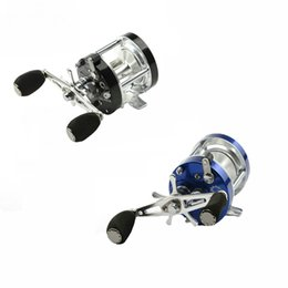 Fake Bait Canada - Black Blue Left Hand Bait Casting Fishing Reel 5.2:1 9+1BB Carp Drum Trolling Baitcasting Reel