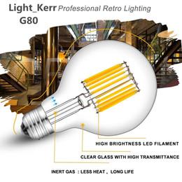 E27 Led Dimmable Globe NZ - LED Filament Globe Light Bulb Lead Light 4W 6W LED Light Bulb G80 Energy Saving Warm White Dimmable E26 E27 B22