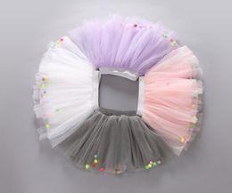 China Summer Colorful Ball Net Yarn skirt for Kids Children Short Party Dance Skirt Baby Girls TUTU Skirts cheap ball netting suppliers