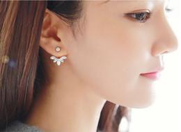 $enCountryForm.capitalKeyWord Canada - Elegant Womens Ear Jackets Rhinestone Silver Gold Plated Crystal Ear Wrap Studs For Girls Ladies