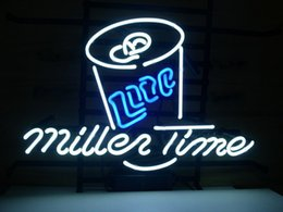 real time display UK - Fashion New Handcraft Miller Time Real Glass Tubes Beer Bar Display neon sign 19x15!!!Best Offer!