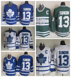 75th jersey Canada - Old Time Toronto Maple Leafs 13 Mats Sundin Hockey Jerseys Vintage Classic 75th Anniversary Mats Sundin Jersey Embroidery C Patch S-XXXL
