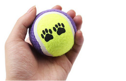 $enCountryForm.capitalKeyWord UK - 200pcs Candy color Dog Toy Tennis Balls Run Catch Throw Play Toy Chew Toys