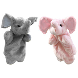 Chinese  Infant Cute 1 Pcs Hand Puppet Cartoon Animals Elephant Baby Kids Children Kindergarten Teaching Toys Soft Doll Plush Toys manufacturers