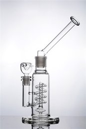 $enCountryForm.capitalKeyWord Canada - Removable Mouthpiece Glass Bongs with Helix Recycler Water Pipe Coil Showerhead Perc Beaker Bong with 14mm joint