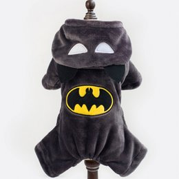 Wholesale Batman Cartoon Dog Clothes Design Pet Costume Clothing Dogs Warn rSweater Cat Dog Puppy Hoodie Winter Coat forSweater Pet Christmas Gift