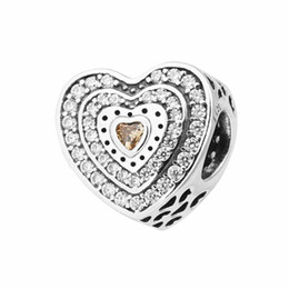 bca4ecd88 Heart beads charms fits for pandora Jewelry bracelets S925 sterling silver  free shipping aleCH621H7 Lavish Heart, Fancy-Colored