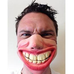 $enCountryForm.capitalKeyWord Canada - 2017 New Wholesale- Big Teeth Latex Mask for Movie Fancy Dress Masquerade Party Horror Creepy Elastic Band Half Face Masks Funny Costume