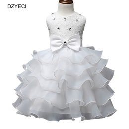 Wholesale Summer Baby Girl Bow Dresses Carnaval Costumes Kid Prom Ball Gown Party Frock Bridesmaid Children Ceremony Elegant Female Small Beauty
