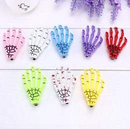 Ghosts Clips Canada - Good A++ Skeleton hand grip edge folder ghost claw hand bone hairpin FJ172 mix order 60 pieces a lot