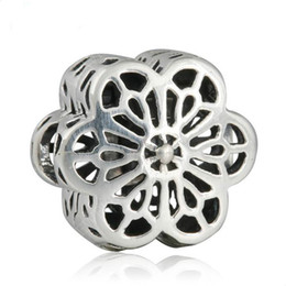 $enCountryForm.capitalKeyWord NZ - Daisy lace floral clip charms beads S925 sterling silver fits for pandora bracelets free shipping good quality aleH9