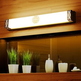 110V 220V L48cm 63cm 83cm Chinese Style Vintage LED Bronze Mirror Light Picture Wall Front Lighting Bathroom Lamp