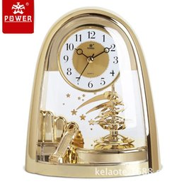 Charming Wholesale Home Decor Desk Clock Modern Design Decorative Clocks 3d Table  Clock Watch Vintage Needle Quartz POWER4201