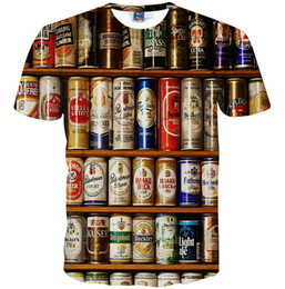 $enCountryForm.capitalKeyWord NZ - Beer wine cabinet T shirt Ring pull can funny scrawl short sleeve gown Cool leisure tees Street printing clothing Unisex cotton Tshirt