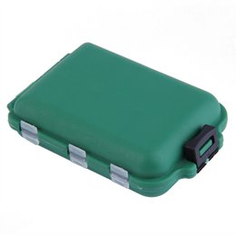 Fishing Lure Store Canada - Wholesale- Delicate Army Green Plastic Fishing Tackle Boxes Hook Compartments Storage Case Outdoor Fishing Swivels Lure Bait Storing Tool