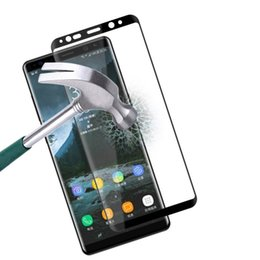 Chinese  3D Curved Surface Full Screen Cover Explosion-proof Tempered Glass Full Cover Film For Samsung Note8 note 8 cellphone manufacturers