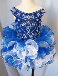 Mini Baby Girl Toddler Canada - 2019 Top Grade Custom Made Sweet Kids Organza Flower Girl Dresses Girls Glitz Pageant Dresses Infant Toddler Baby Cupcake Dress