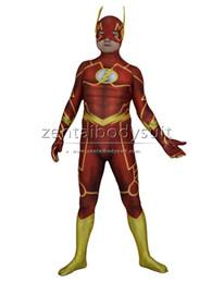 Discount zentai hero cosplay - 3D Print Shade 52 Flash Costume Halloween Party Cosplay Zentai Suit