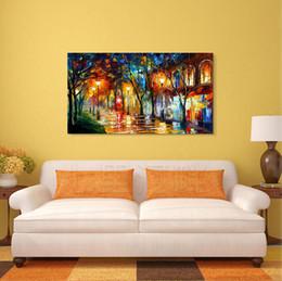 $enCountryForm.capitalKeyWord Canada - 100% Hand Paint Modern Palette Knife Landscape Oil Painting on Canvas High Quality Home Decor Presents JL067